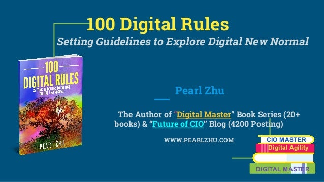 "100 Digital Rules Setting Guidelines to Explore Digital New Normal Pearl Zhu The Author of ""Digital Master"" Book Series (2..."