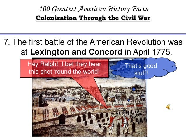 Facts Review Powerpoint - American revolution facts