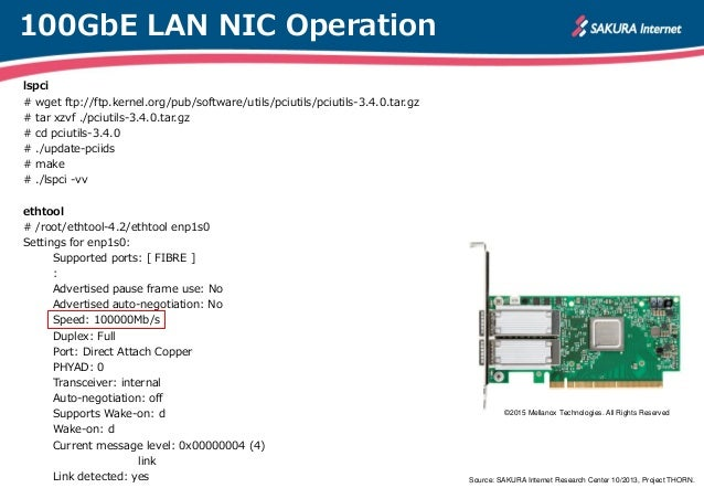 How to ride a 100GbE LAN -MEMO-