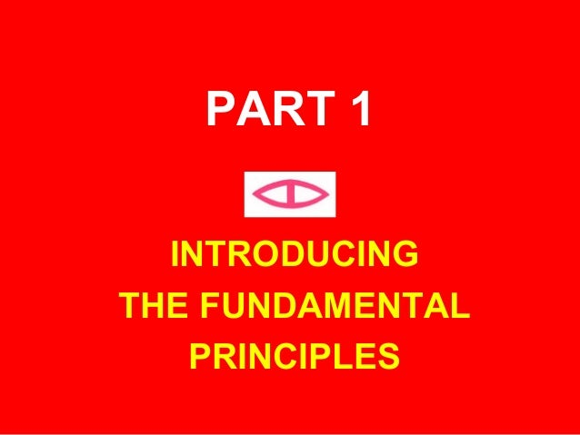 INTRODUCINGTHE FUNDAMENTALPRINCIPLESPART 1