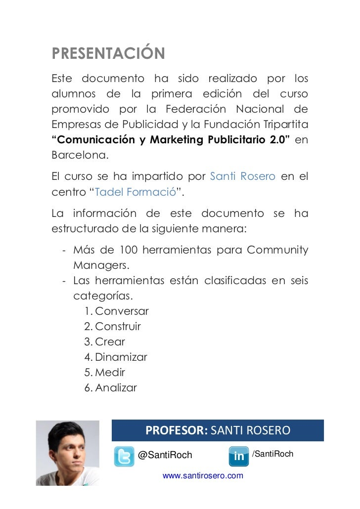 100 herramientas para community managers Slide 2