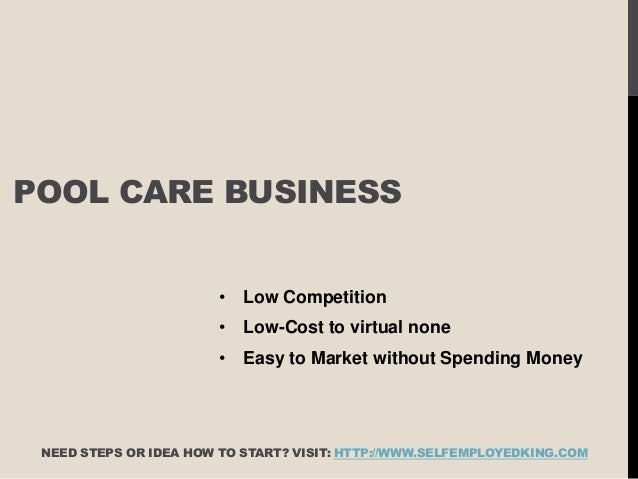 Com  Pool Care Business  E  A Low Competition