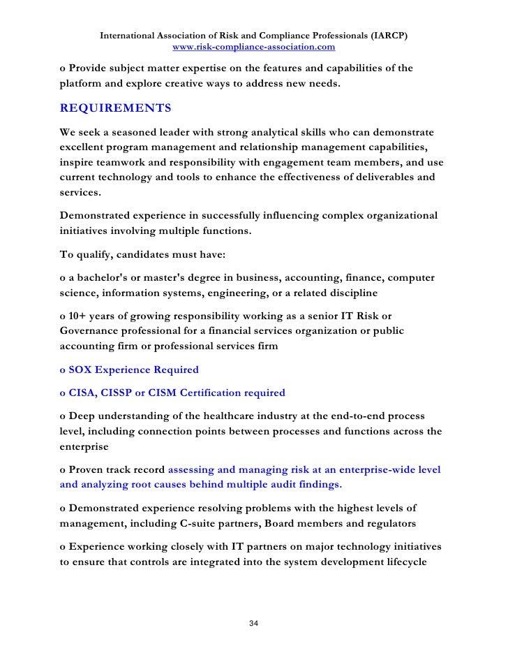 Discover 100 job descriptions in risk and compliance - Compliance officer job description financial services ...