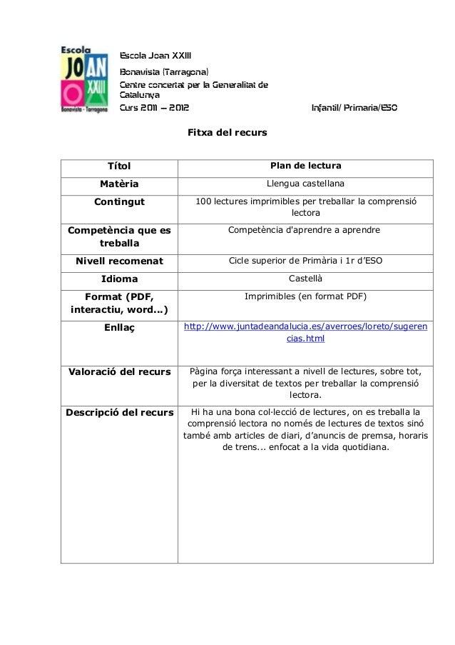Escola Joan XXIII           Bonavista (Tarragona)           Centre concertat per la Generalitat de           Catalunya    ...