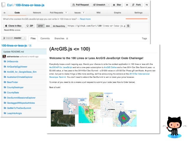 GitHub + Mapping Apps in 100 lines or less using the ArcGIS