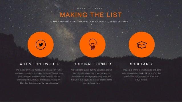 103 Genuine Marketing Thought Leaders  Slide 3