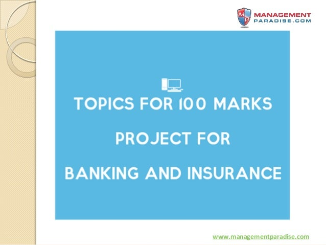100 marks banking project Paper, marks  modern banking operations and services (major i), 100  law  and practice of banking – i (major iii), 100 project work (compulsory) 100.