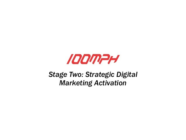 Stage Two: Strategic Digital  Marketing Activation