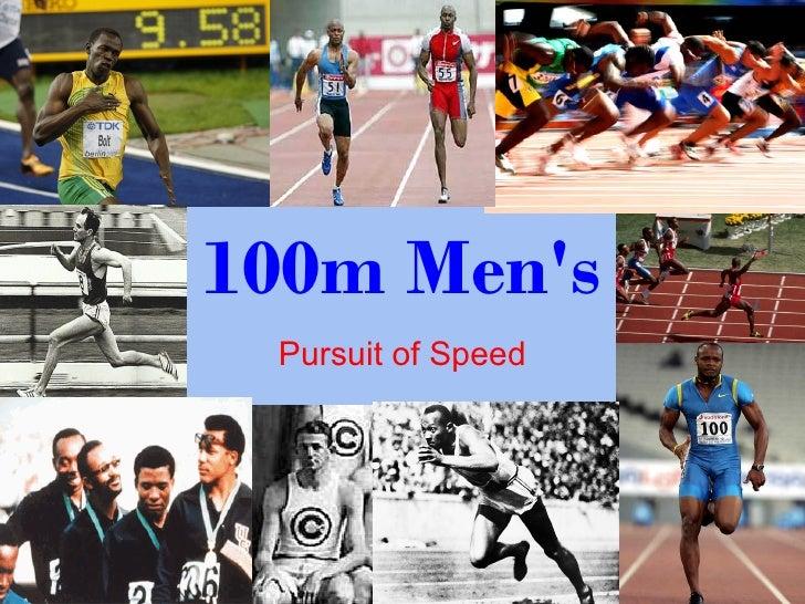 100m Mens Pursuit of Speed