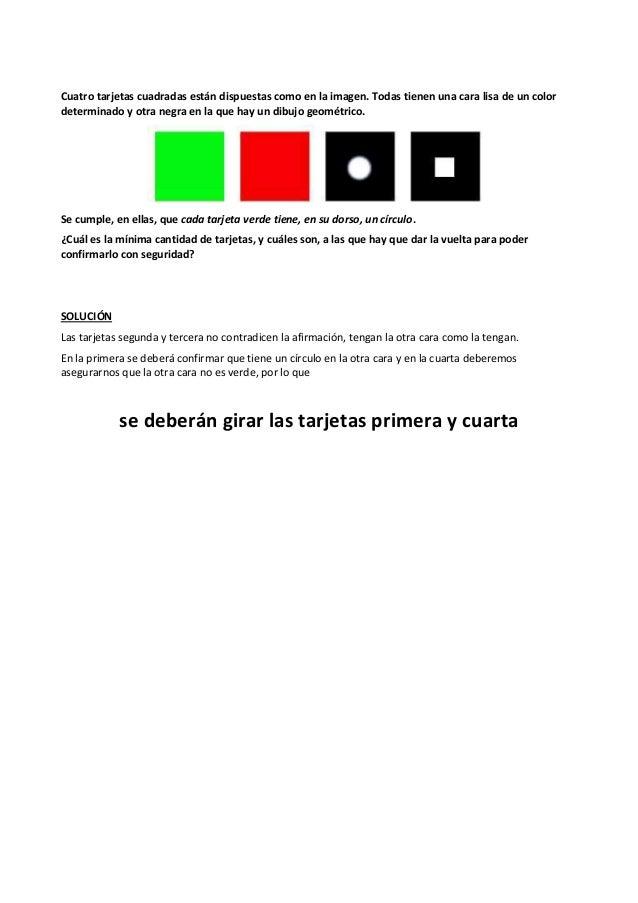 Cuatro tarjetas cuadradas están dispuestas como en la imagen. Todas tienen una cara lisa de un color determinado y otra ne...