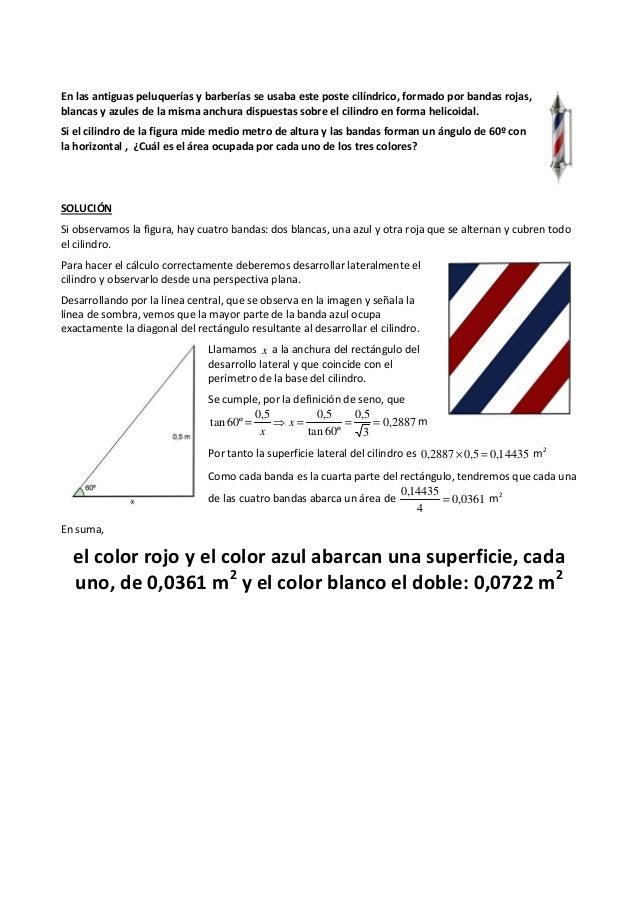 En las antiguas peluquerías y barberías se usaba este poste cilíndrico, formado por bandas rojas, blancas y azules de la m...