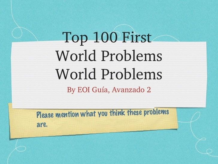 Top100First      WorldProblems      WorldProblems          ByEOIGuía,Avanzado2                                   ...