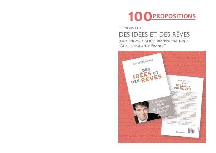 """""""IL       100      NOUS FAUT                    PROPOSITIONSDES IDÉES ET DES RÊVESPOUR ENGAGER NOTRE TRANSFORMATION ETBÂTI..."""