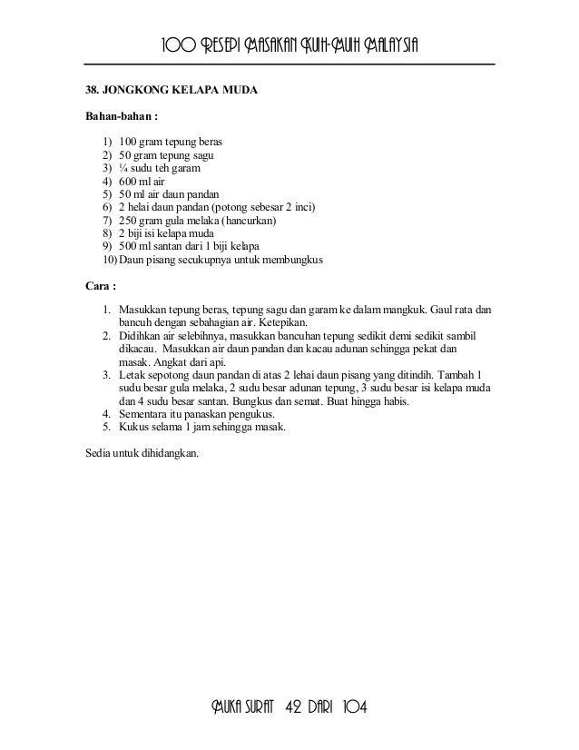 100 Resepi Kuih Muih Malaysia