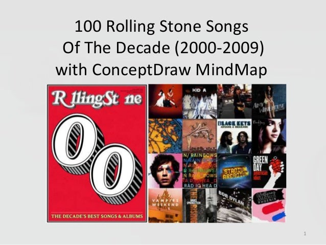 100 Rolling Stone SongsOf The Decade (2000-2009)with ConceptDraw MindMap1