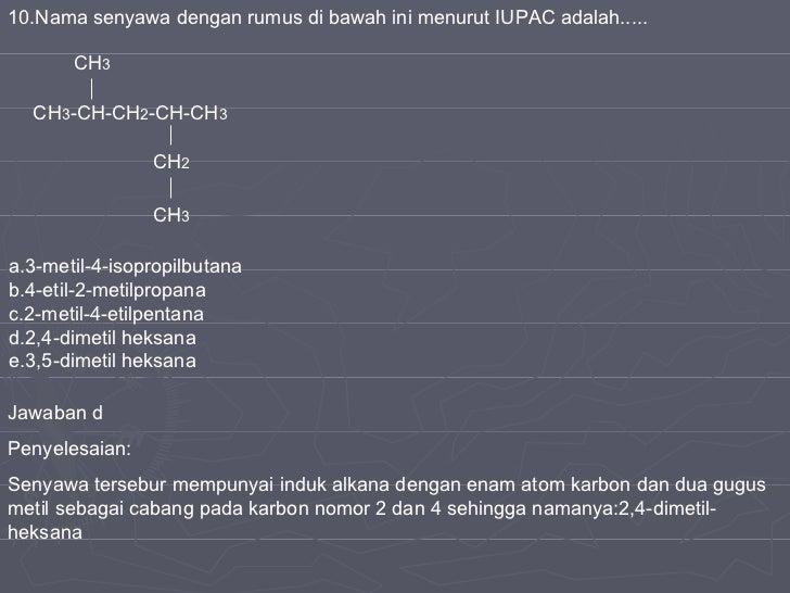 100 Soal Kimia Karbon