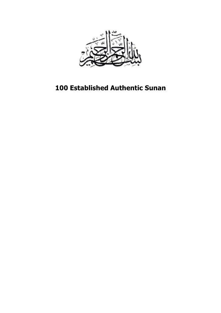100 Established Authentic Sunan