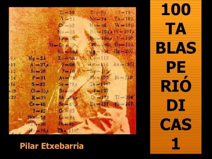 100 TA BLAS PE RIÓ DI CAS 1 Pilar Etxebarria