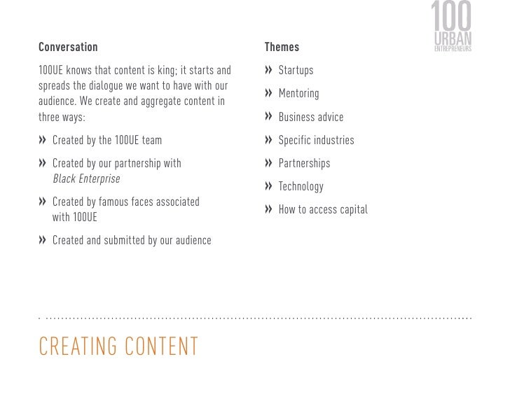 Conversation                                      Themes100UE knows that content is king; it starts and   »               ...