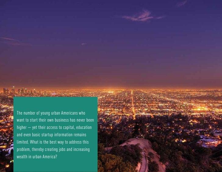 100 Urban Entrepreneurs  Slide 2