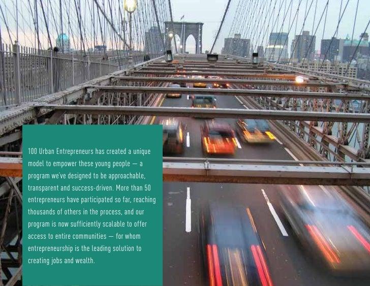 100 Urban Entrepreneurs  Slide 3