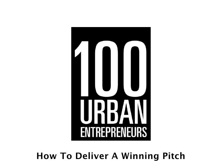 Investor Pres      Investor PresentationHow To Deliver A Winning Pitch