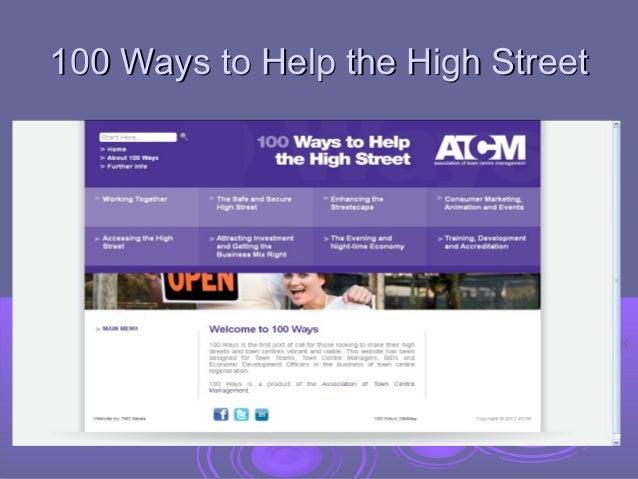 100 Ways to Help the High Street
