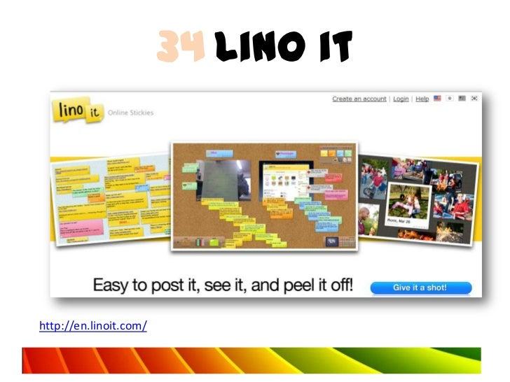 34 Lino ithttp://en.linoit.com/