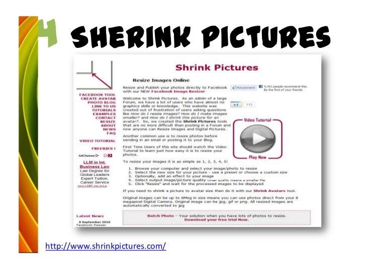 4 Sherink pictureshttp://www.shrinkpictures.com/