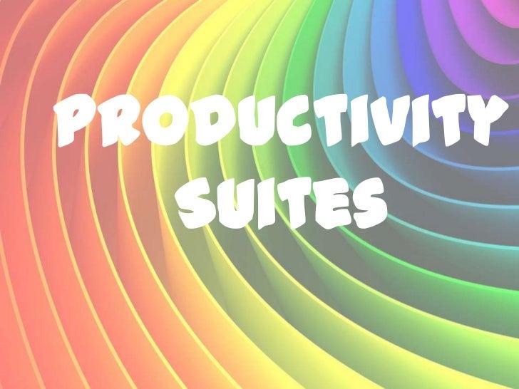 Productivity   Suites