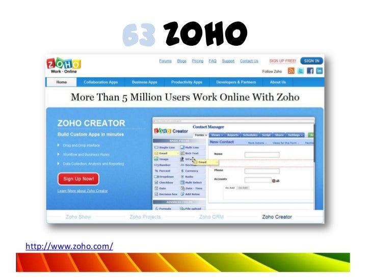 63 Zohohttp://www.zoho.com/