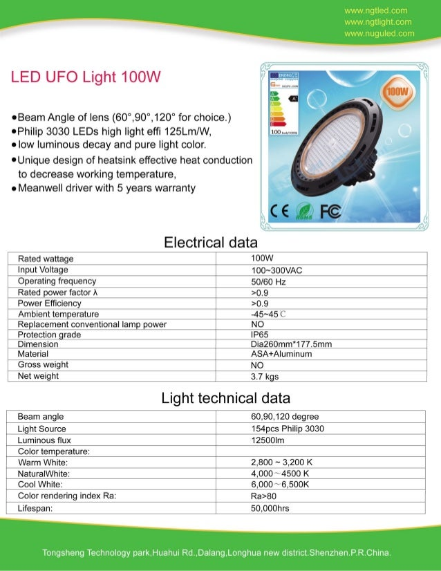 100W LED UFO LIGHT