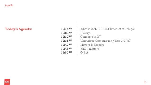 Web 3.0 & Internet of Things  Slide 2