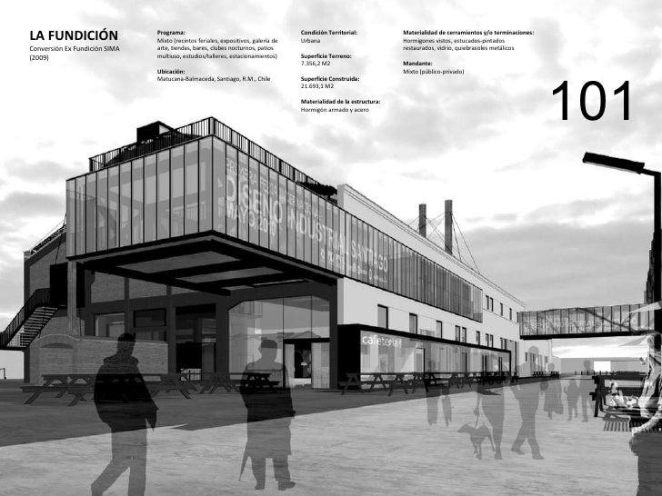 LA FUNDICIÓN Conversión Ex Fundición SIMA (2009) Programa:  Mixto (recintos feriales, expositivos, galería de arte, tienda...