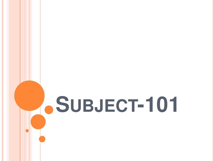 Subject-101<br />