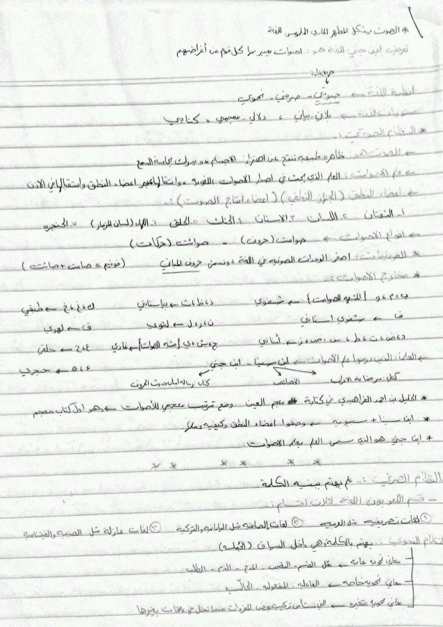 تلخيصي لمادة العربي101