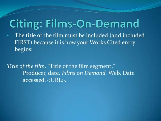 referencing a movie title in an essay How do you cite a movie quote feb 27, 2013 in the midst of writing an essay , paper, or article , you may need to throw in a direct quote here and there to add emphasis, authority, or clarity to your work.
