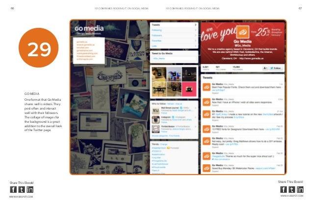 66                                       101 COMPANIES ROCKINg IT ON SOCIAL MEDIA   101 COMPANIES ROCKINg IT ON SOCIAL MED...