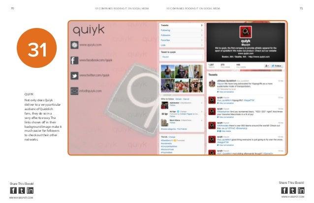 70                                       101 COMPANIES ROCKINg IT ON SOCIAL MEDIA   101 COMPANIES ROCKINg IT ON SOCIAL MED...
