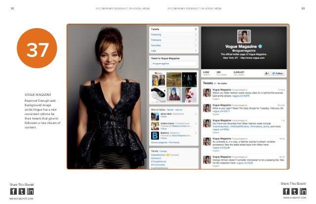 82                                     101 COMPANIES ROCKINg IT ON SOCIAL MEDIA   101 COMPANIES ROCKINg IT ON SOCIAL MEDIA...