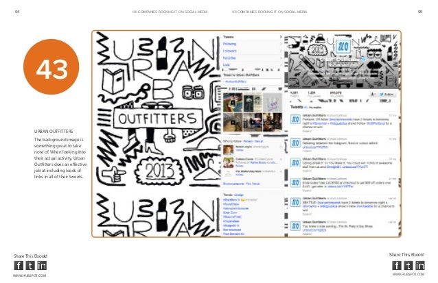 94                                        101 COMPANIES ROCKINg IT ON SOCIAL MEDIA   101 COMPANIES ROCKINg IT ON SOCIAL ME...