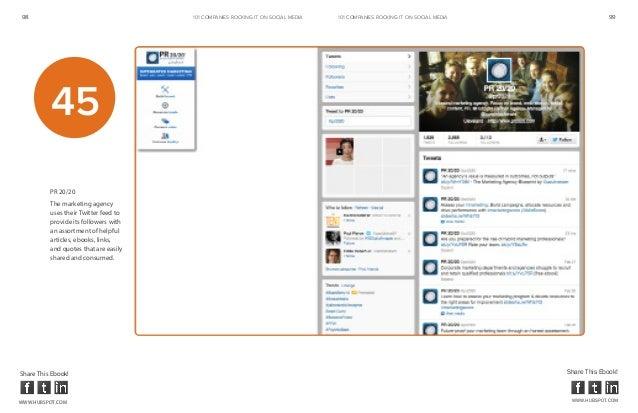98                                     101 COMPANIES ROCKINg IT ON SOCIAL MEDIA   101 COMPANIES ROCKINg IT ON SOCIAL MEDIA...