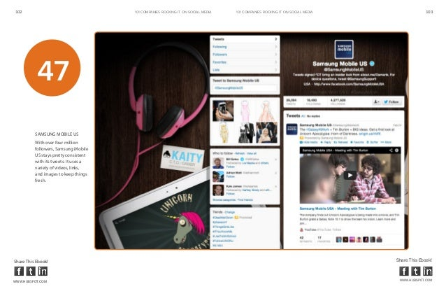 102                                    101 COMPANIES ROCKINg IT ON SOCIAL MEDIA   101 COMPANIES ROCKINg IT ON SOCIAL MEDIA...