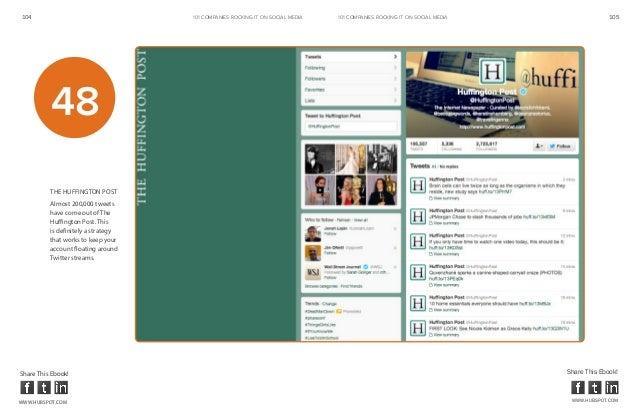 104                                  101 COMPANIES ROCKINg IT ON SOCIAL MEDIA   101 COMPANIES ROCKINg IT ON SOCIAL MEDIA  ...