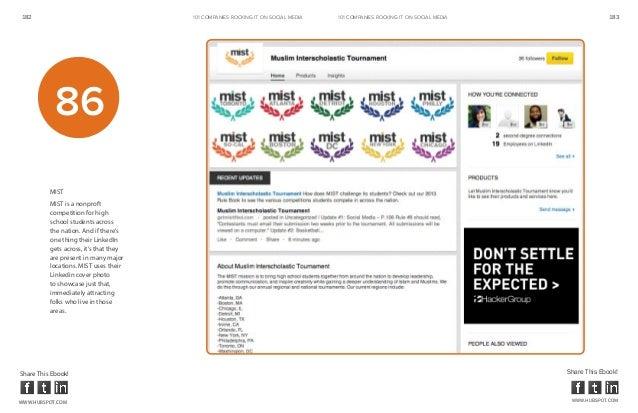 182                                     101 COMPANIES ROCKINg IT ON SOCIAL MEDIA   101 COMPANIES ROCKINg IT ON SOCIAL MEDI...