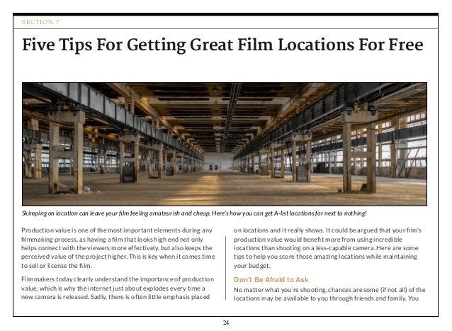 101 Filmmaking Tips & Tricks: a FREE Filmmaking eBook