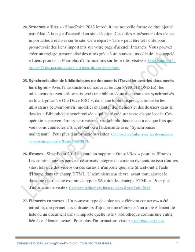 Top 101 Nouvelles fonctionnalités dans SharePoint-2013-FR BQ22