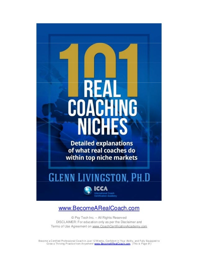 www.BecomeARealCoach.com © Psy Tech Inc. – All Rights Reserved DISCLAIMER: For education only as per the Disclaimer and Te...