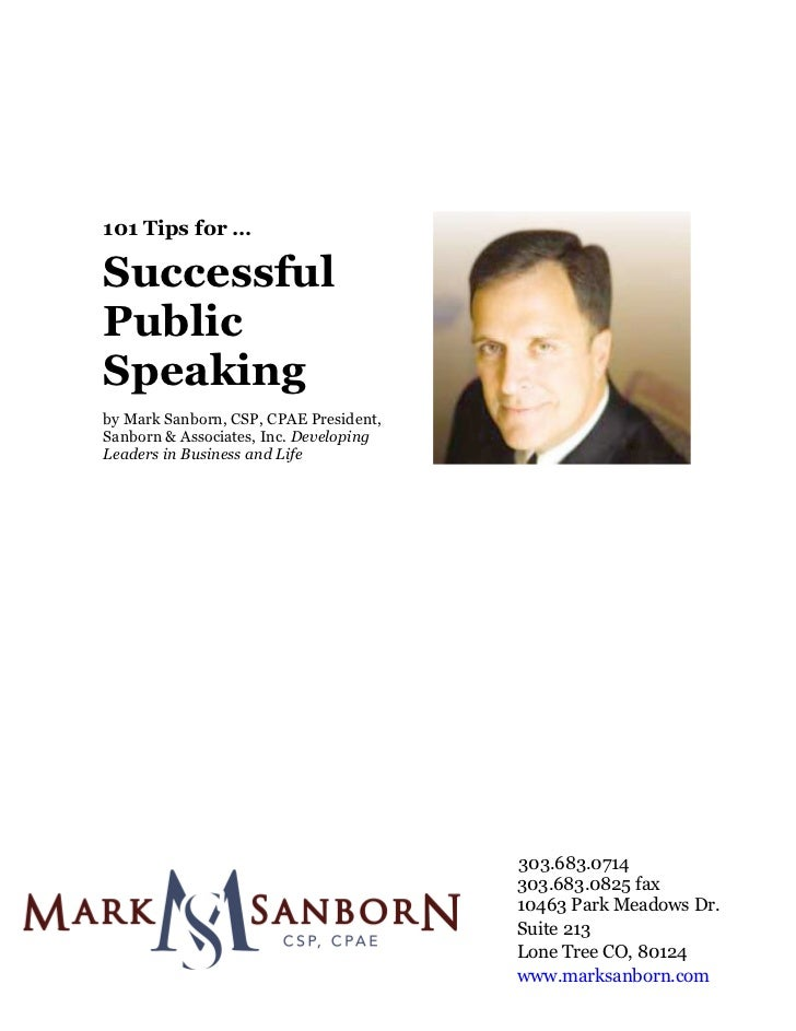 101 Tips for …	                Successful              Public              Speaking...