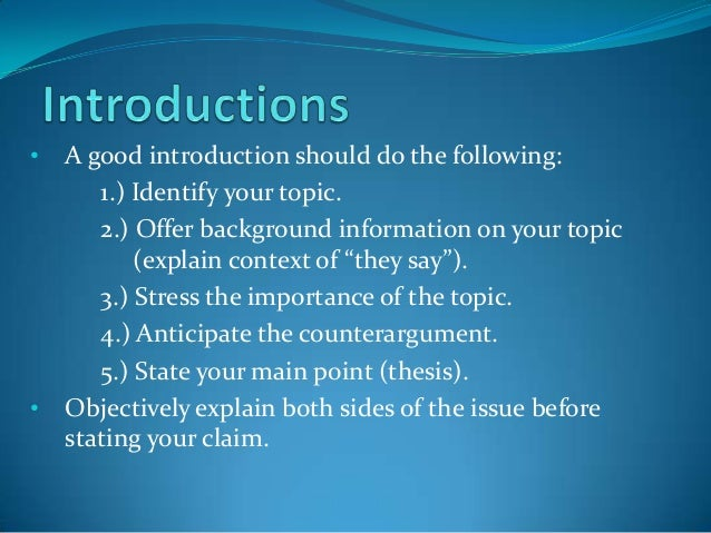 how to start a good essay introduction Writing a good essay about cause and effect is this will be your essay's starting point and the you now have an essay outline with an introduction.